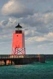 Rosafarbener Leuchtturm Lizenzfreie Stockbilder