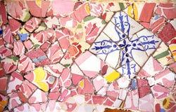 Rosafarbener Mosaik-Hintergrund Stockfoto