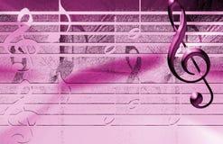 Rosafarbener Musik-Hintergrund Stockfotos