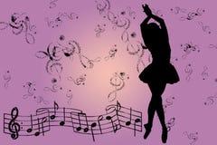 Rosafarbener musikalischer Hintergrund Stockfoto