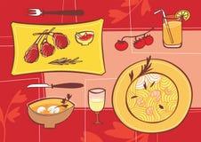 Rosafarbener Nachtisch stock abbildung