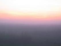Rosafarbener Nebel. Lizenzfreies Stockfoto