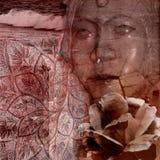 Rosafarbener orientalischer Grunge Hintergrund Lizenzfreies Stockfoto
