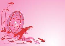 Rosafarbener Ostern-Hintergrund Stockfotografie