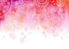 Rosafarbener Paisley-Hintergrund Stockfoto