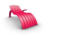 Rosafarbener Patio-Nichtstuer lizenzfreie abbildung