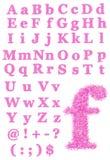 Rosafarbener Pelzschrifttyp stock abbildung