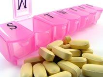 Rosafarbener Pille-Kasten Lizenzfreie Stockfotos