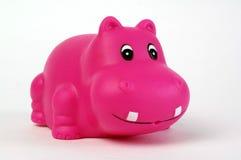 Rosafarbener Plastikhippopotamus Lizenzfreies Stockbild