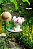 Rosafarbener Plower Garten Stockfotografie