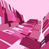 Rosafarbener quadratischer Hintergrund stock abbildung