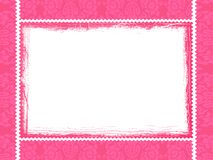 Rosafarbener Rahmen Stockfoto