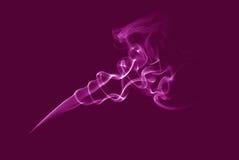Rosafarbener Rauch Stockbild