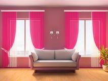 Rosafarbener Raum Stockfotografie