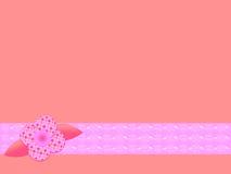 Rosafarbener Retro- Blumenhintergrund stock abbildung