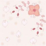 Rosafarbener romantischer mit Blumenhintergrund Stockfotografie