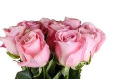 Rosafarbener Roseblumenstrauß Stockfoto