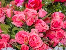 Rosafarbener Roseblumenstrauß Lizenzfreies Stockbild
