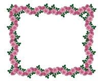 Rosafarbener Rosegirlanderand Stockfoto