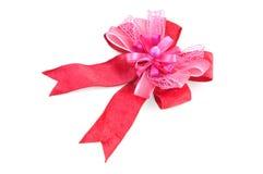 Rosafarbener Satinbogen stockbild