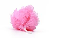Rosafarbener Schwamm des Bades Stockbild