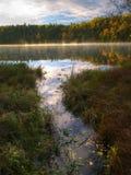 Rosafarbener See im Gatineau Park, Quebec, Kanada Lizenzfreies Stockbild