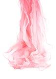 Rosafarbener silk Schal Stockbild