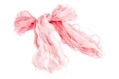 Rosafarbener silk Schal Stockbilder