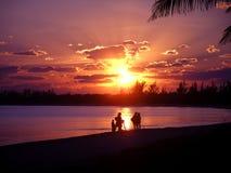 Rosafarbener Sonnenuntergang lizenzfreies stockfoto