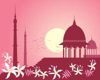 Rosafarbener Sonnenuntergang des Inders Stockfotografie