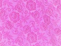 Rosafarbener Spitzeblumenhintergrund Stockfoto