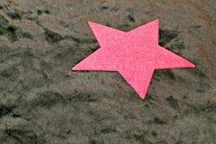 Rosafarbener Stern Stockfotografie