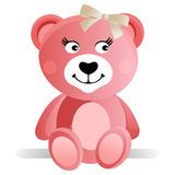 Rosafarbener Teddybär stock abbildung
