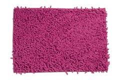 Rosafarbener Teppich oder Fußmatte Stockfotografie
