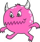 Rosafarbener Teufel-Monster-Vektor Lizenzfreies Stockbild