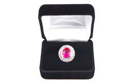 Rosafarbener Topaz-Ring Stockfoto