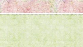 Rosafarbener u. grüner Hintergrund Lizenzfreies Stockbild