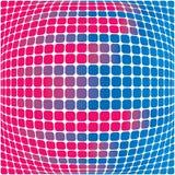 Rosafarbener und blauer Hintergrund Lizenzfreie Abbildung