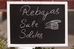 Rosafarbener und gelber Verkauf Stockfoto