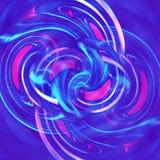 Rosafarbener und purpurroter Wavey Fluss stock abbildung
