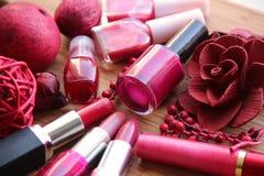 Rosafarbener und roter Verfassungs-Aufbau Lizenzfreies Stockfoto