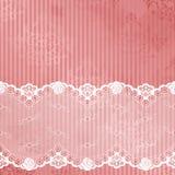 Rosafarbener und weißer Hintergrund mit Spitze Stockfoto