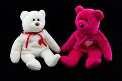 Rosafarbener und weißer Teddybär Lizenzfreies Stockfoto