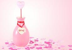 Rosafarbener Valentinsgruß Lizenzfreie Stockbilder