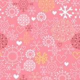 Rosafarbener Weihnachtshintergrund lizenzfreie abbildung