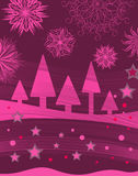Rosafarbener Weihnachtshintergrund Lizenzfreie Stockfotos