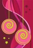 Rosafarbener Weihnachtshintergrund Lizenzfreie Stockfotografie