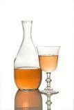 Rosafarbener Wein Stockbild