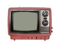 Rosafarbener Weinlese Fernsehapparat Stockfotografie