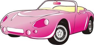 Rosafarbenes Auto lizenzfreie abbildung